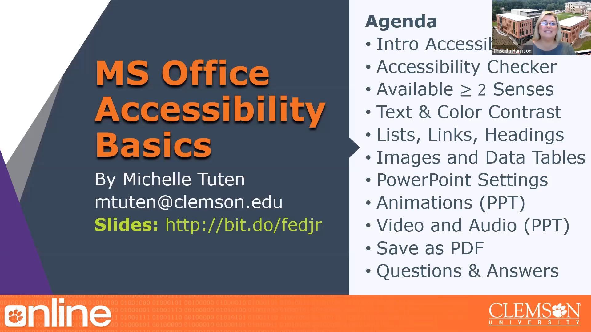 Microsoft Office Accessibility Basics
